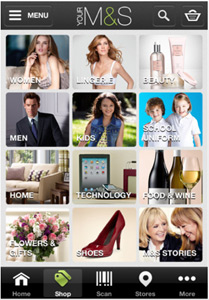 Marks and Spencers lifestyle app